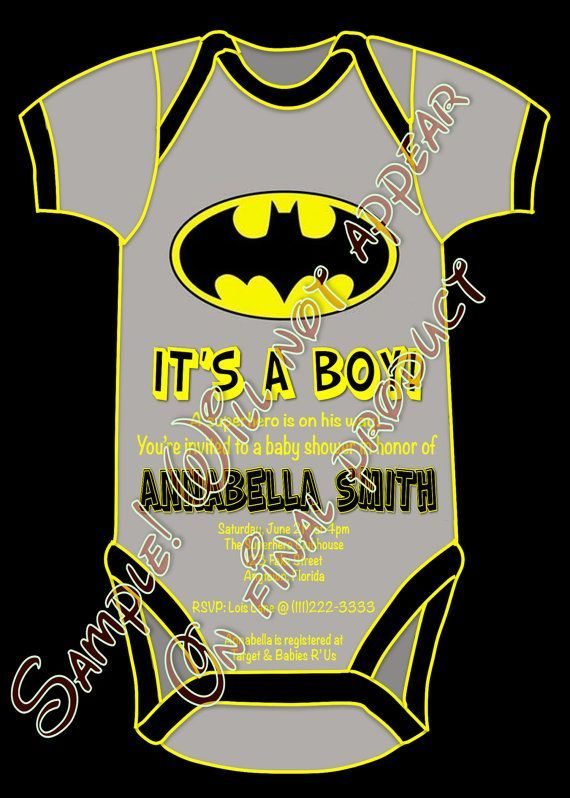photograph relating to Free Printable Superhero Baby Shower Invitations titled totally free batman boy or girl boy shower printable invitations Uncovered upon