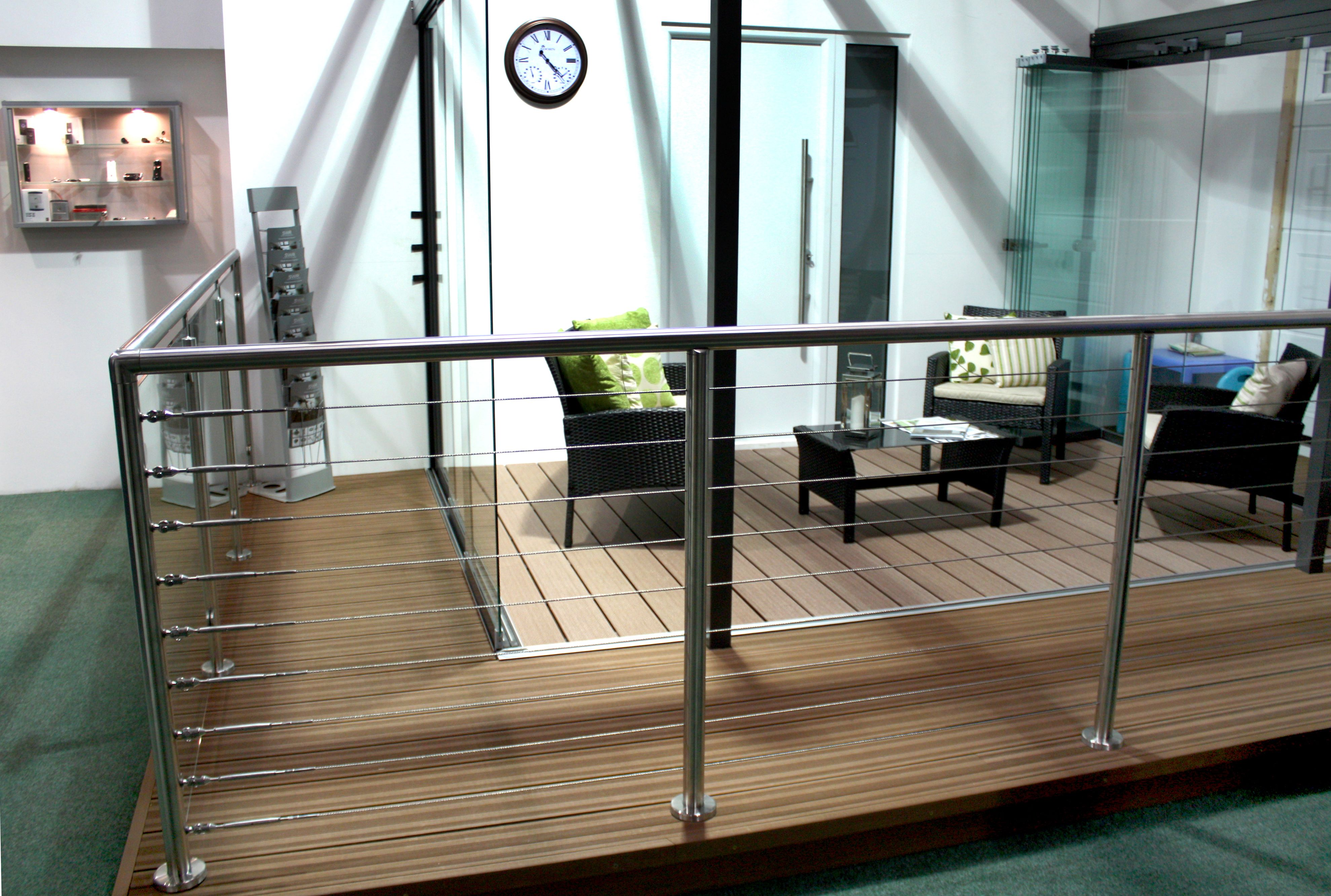 Stainless Steel Modular Balustrade System with Wire Rope Infill ...