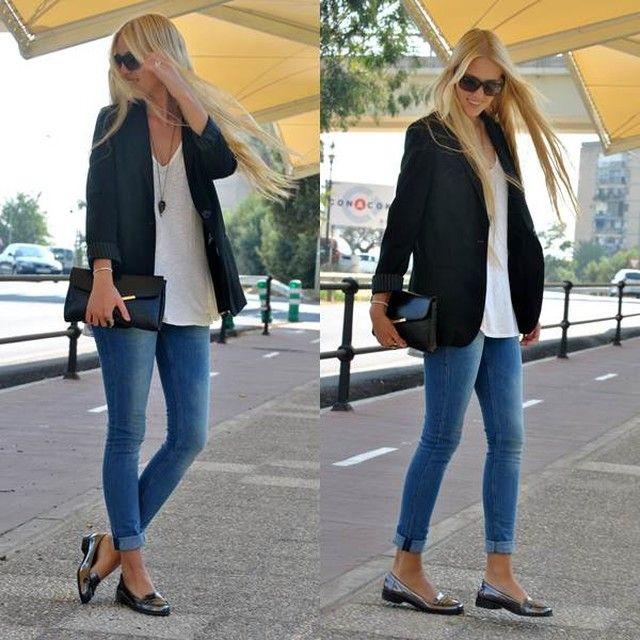 Looks con mocasines grises Trendtation | Prendas elegantes