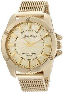 Marc Ecko Men's E18597G1 The Flash Gold Mesh Gold Dial Watch.  List Price: $185.00  Sale Price: $115.58  Savings: 38%