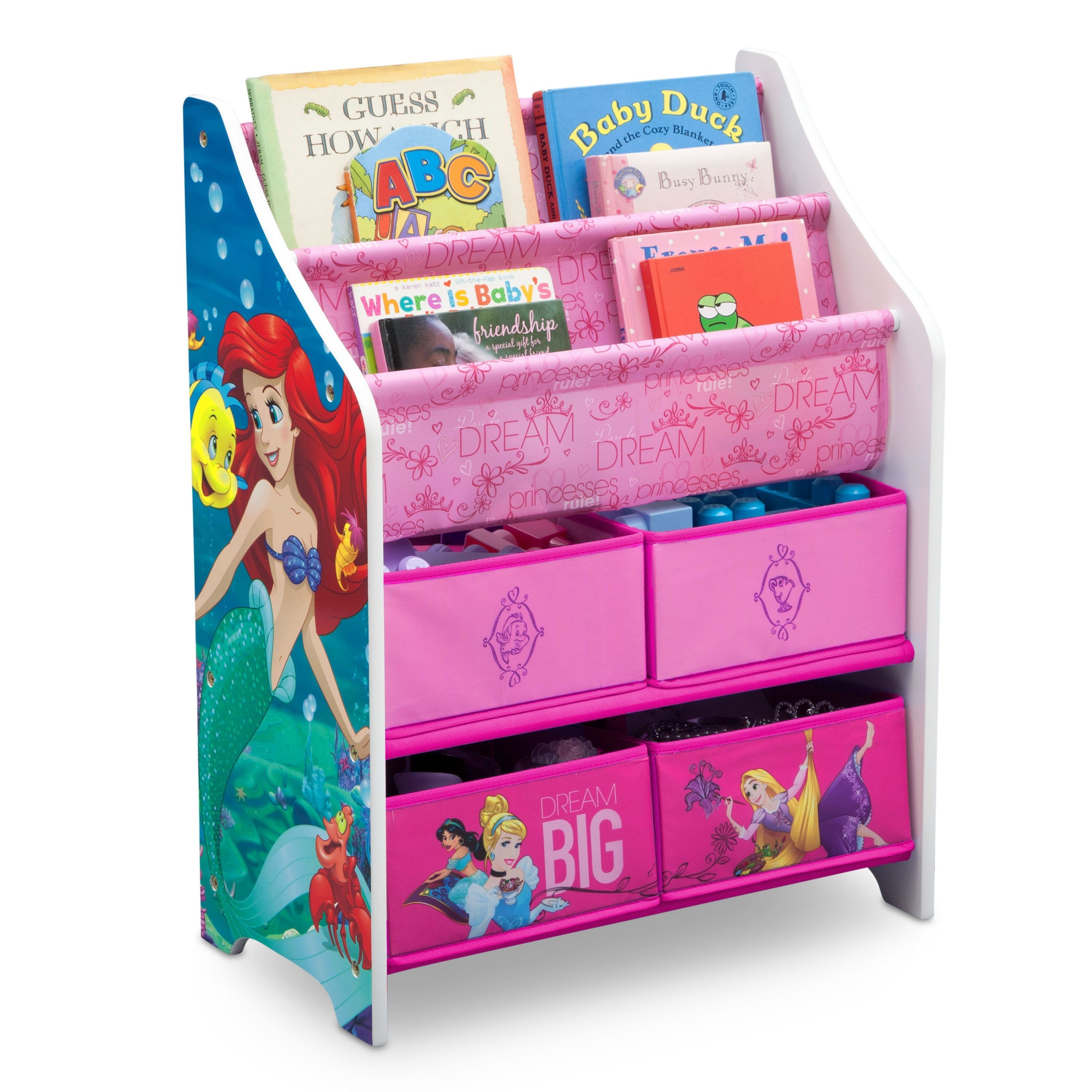 Disney Princess Book And Toy Organizer Toy Organization Disney Princess Toys Princess Toys