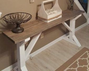 Items Similar To Rustic Sofa Table/ Entry Table On Etsy