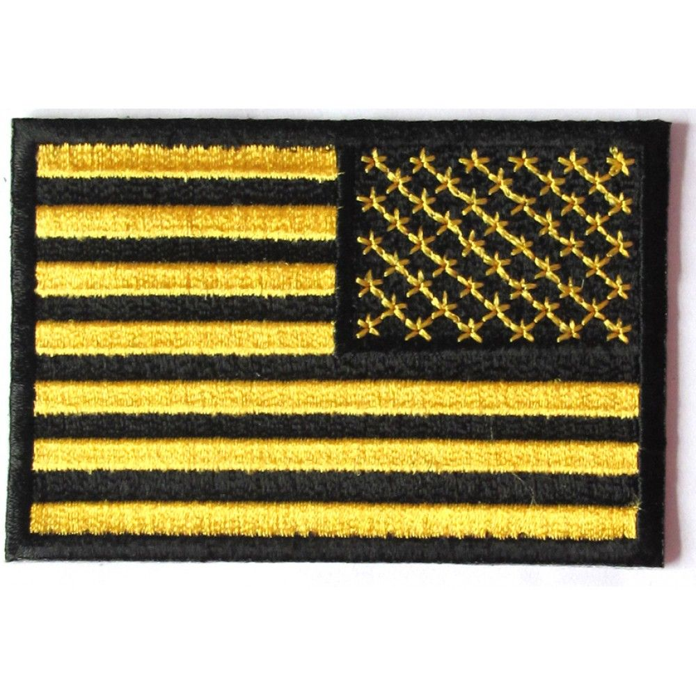 Yellow Black American Flag Reversed Patch Black American Flag Patches American Flag Patch