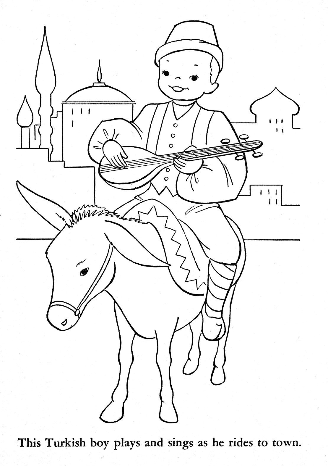 Children Of Other Lands 1954 Australia New Zealand South Africa Egypt Turkey Russia Poland Yugoslavia Coloring Pages Coloring Books Coloring Pictures