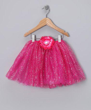 Another great find on #zulily! Hot Pink Glitter Daisy Tutu - Toddler & Girls #zulilyfinds