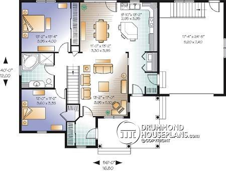 Discover The Plan 3108 V2 Galerno 3 Which Will Please You For Its 2 Bedrooms And For Its Country Styles House Plans Country Style House Plans Bungalow House Plans
