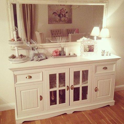 #landhaus#shabbychic#home#homedesign#sideboard#style#hirsch#mirror