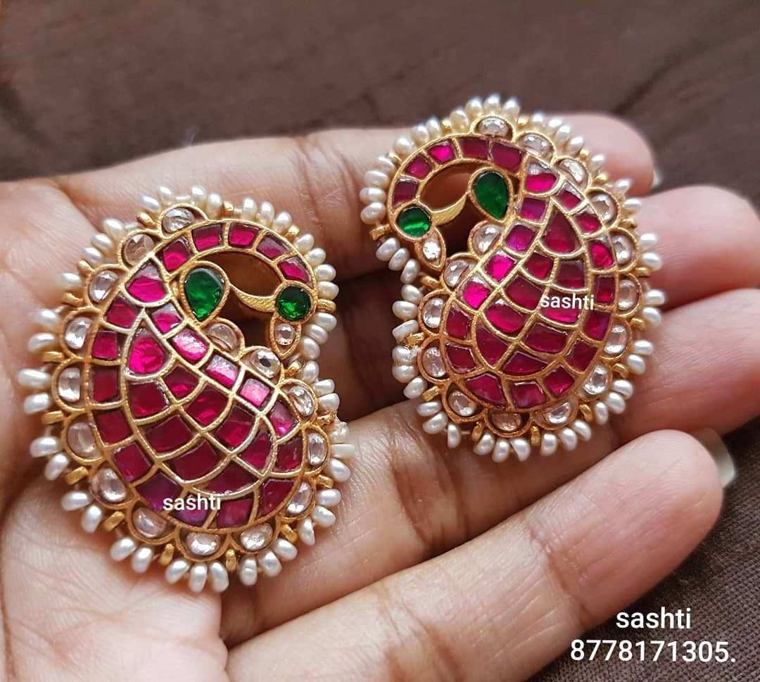 846c2dbbd gold plated pure silver antique kundan jewellery