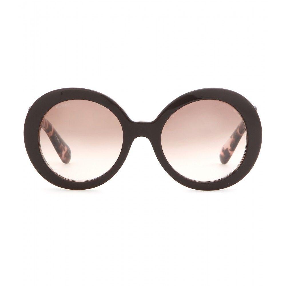 6a4faa2476190c Prada - Lunettes de soleil Minimal Baroque - Prada propose une paire de  lunettes de soleil à monture tachetée et marron. Avec leurs lignes baroques,  ...