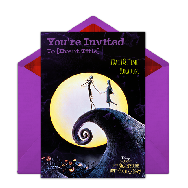 Free The Nightmare Before Christmas Invitations Christmas Birthday Invitations Christmas Invitations Template Christmas Birthday Party