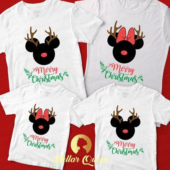 Matching Christmas Shirts For Family.Merry Christmas Mickey Shirts Disney Christmas Family