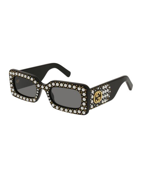 9aad77ff822 GUCCI Chunky Studded Square Sunglasses