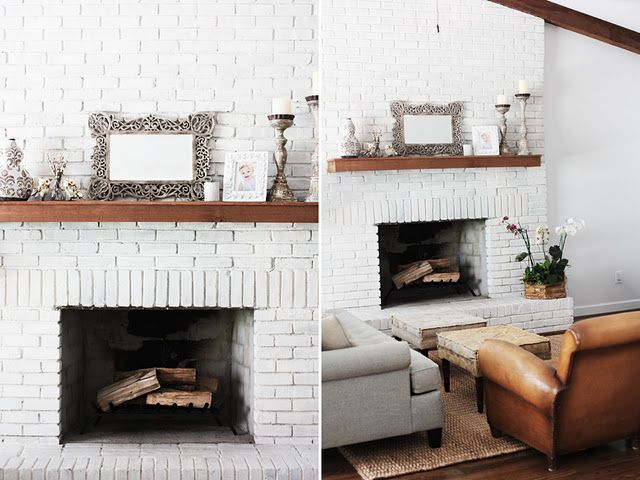 White Brick Fireplace Paint Fireplace Brick Fireplace