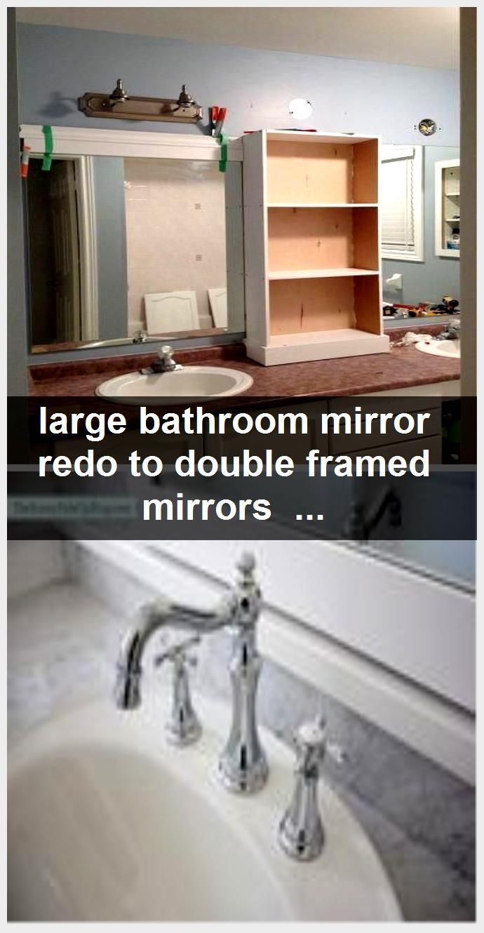 Photo of large bathroom mirror with double-framed mirrors and cupboard, bathroom ideas, …