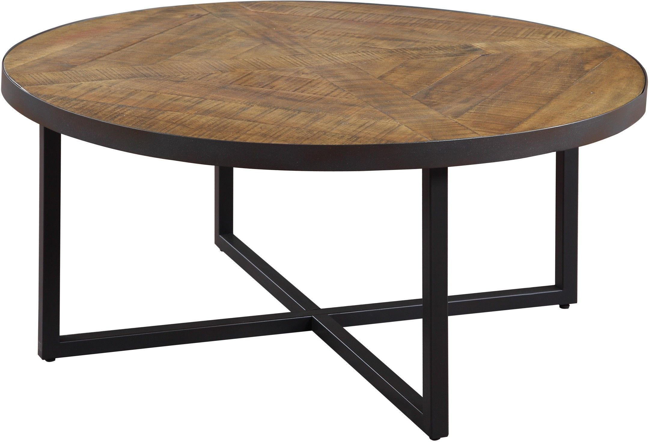 Emerald Home Furnishings Denton Cocktail Table Antique Pine 36 In Pine Coffee Table Round Wood Coffee Table Round Wooden Coffee Table