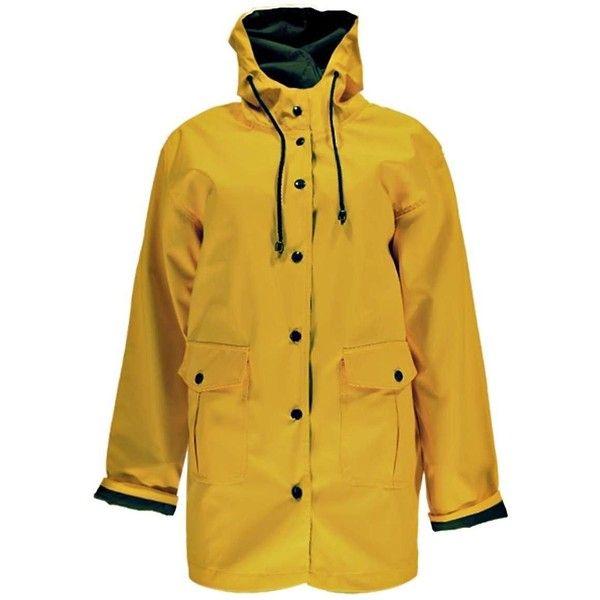 Boohoo Emma PU Coated Waterproof Mac (230 DKK) via Polyvore featuring outerwear, coats, rain coat, waterproof coat, brown puffer coat, pu coat and bomber coat