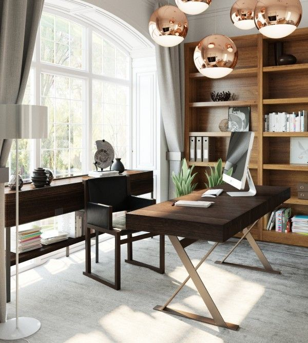 Best Lighting For Home Office: 42 Amazing Home Office Ideas & Design