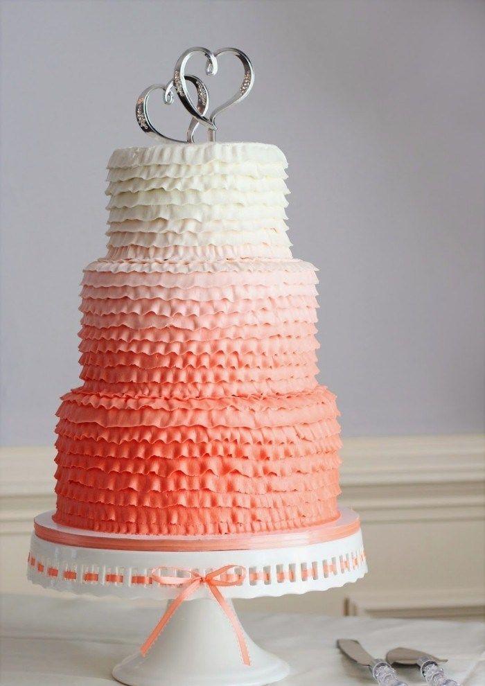 Ombre Hochzeitstorte Mehrstockig In Pastelligen Farben Mit