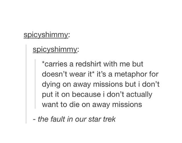 It's a metaphor, you carry the killing thing, but you don't put it on.