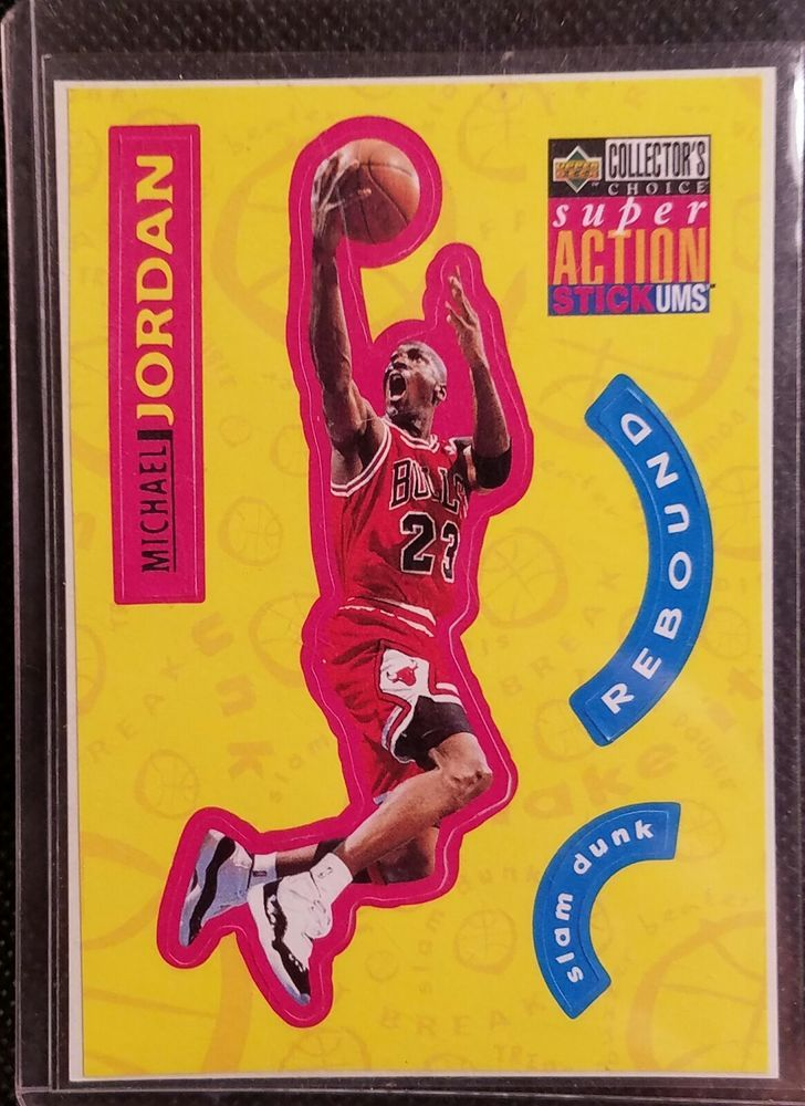 c5642b220981a MICHAEL JORDAN 1996 UPPER DECK STICKER BASKETBALL CARD #S30 ...