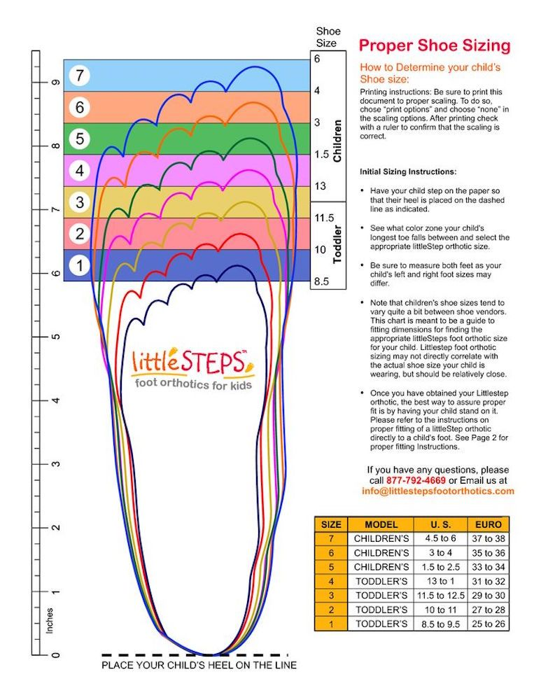 Image Via Little Steps Foot Orthotics for Kids Shoe size