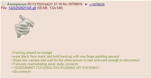 Anon goes on Omegle