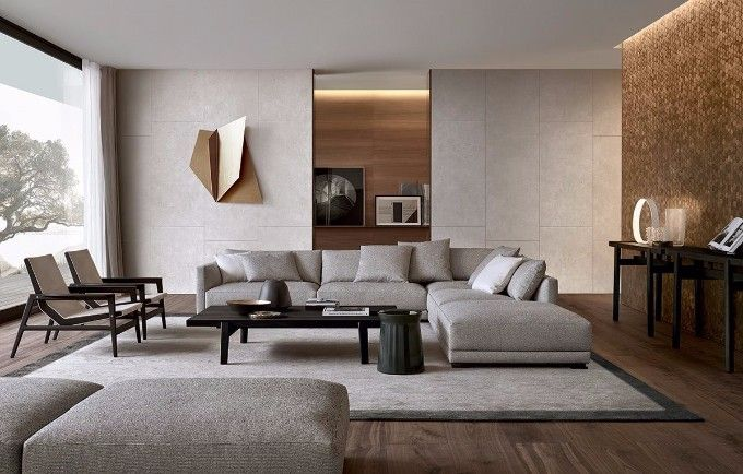Kembra moderne woonstijl moderne slaapkamer met vloerbedekking