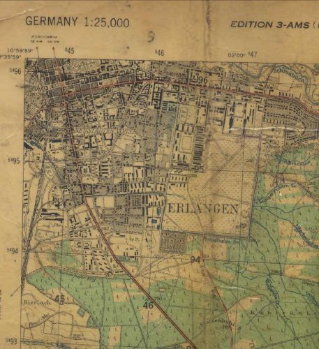 Map used during local training in Erlangen Ferris Barracks is just