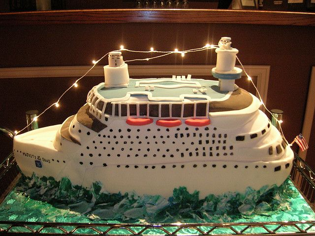 Cruise Ship cake I love the abundance of delectable desserts of