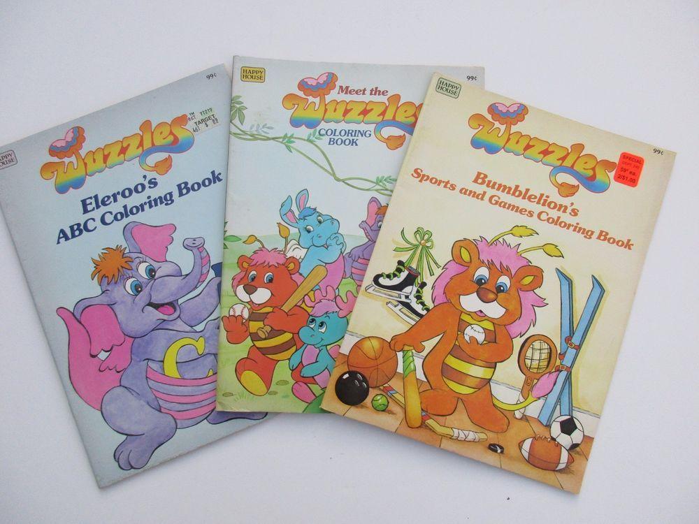 Vintage Wuzzles Coloring Book Lot Unused Coloring Books Abc Coloring Coloring For Kids