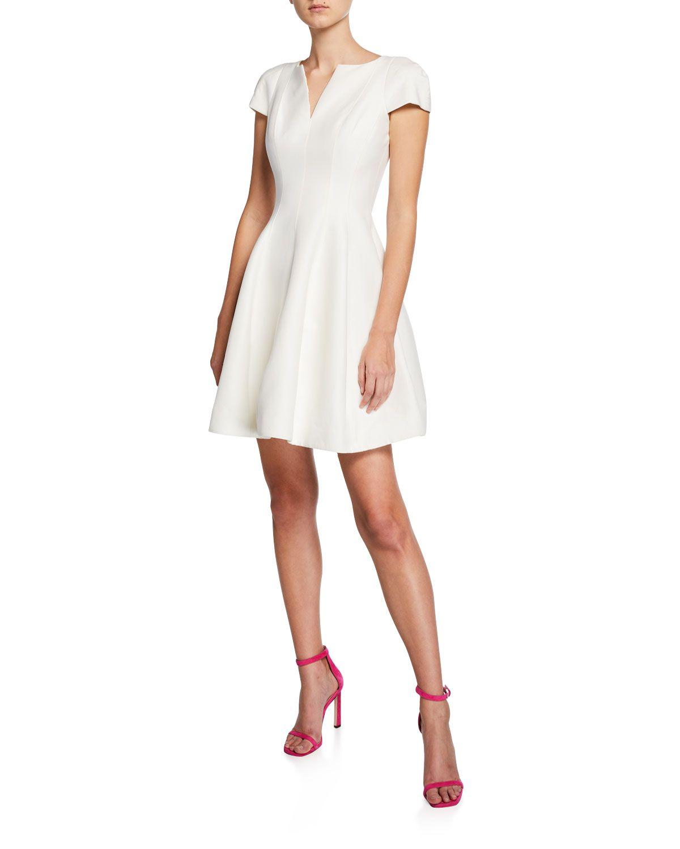 f689cdf4ece Halston Heritage Maggie Short Fit- -Flare Dress