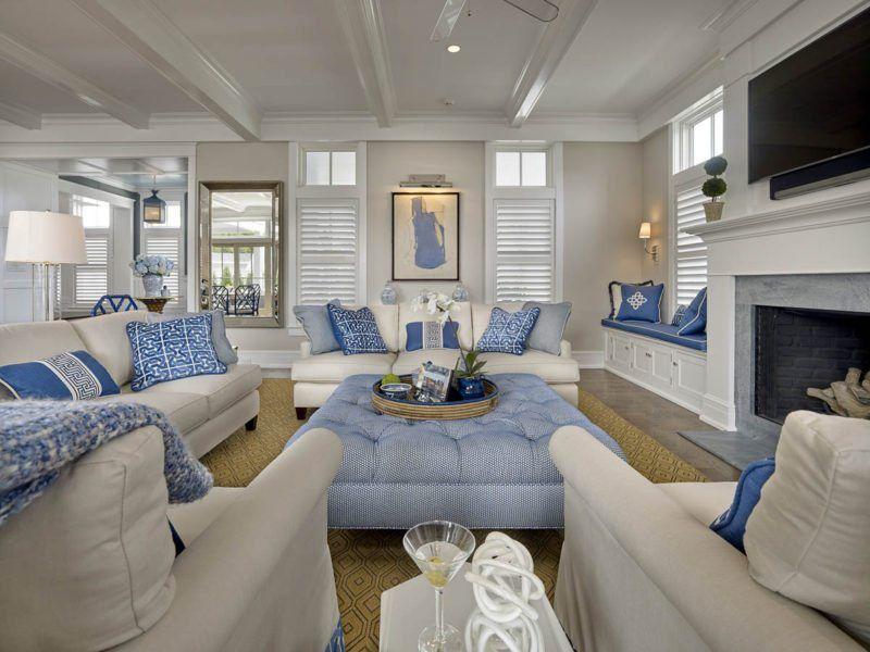 Coastal in 2019 | Beach house | Beach living room, Coastal ...