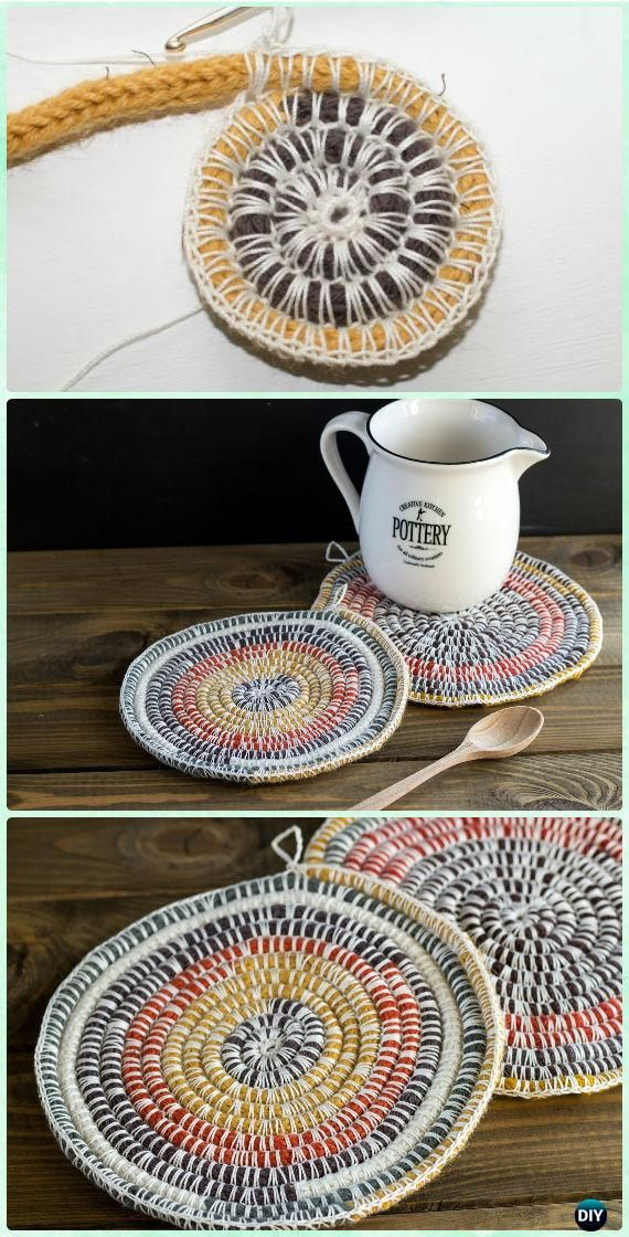 Crochet Coasters Free Patterns and Instructions   Ganchillo patrones ...