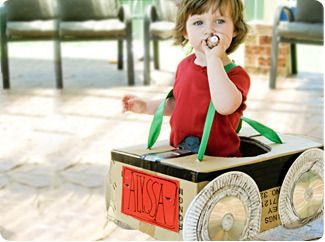 have your kids zipping around the house in no time with this easy to make box