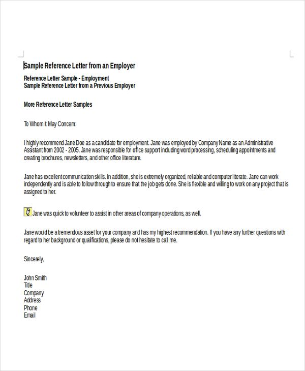 Image Result For Template Reference Letter For Employee Reference Letter Templates Pinterest