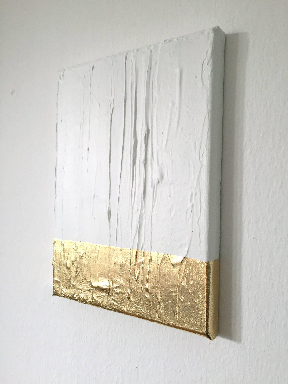 Ich Freue Mich, Den Jüngsten Neuzugang In Meinem #etsy Shop Vorzustellen:  Abstrakte Malerei Weiß, Gold G18 #kunst #mischtechnik #weiss #geburtstag ...