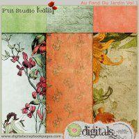 New Au Fond Du Jardin - Papers Vol 1 by P'tit Studio Katia @ Digitals