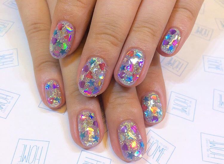 Our Inner 8 Year Old Loves This Nail Art Nail Ideas Nail Inspiration Manicure Nail Designs Gem Nails Glitter Nails Manicure Nails Nail Designs