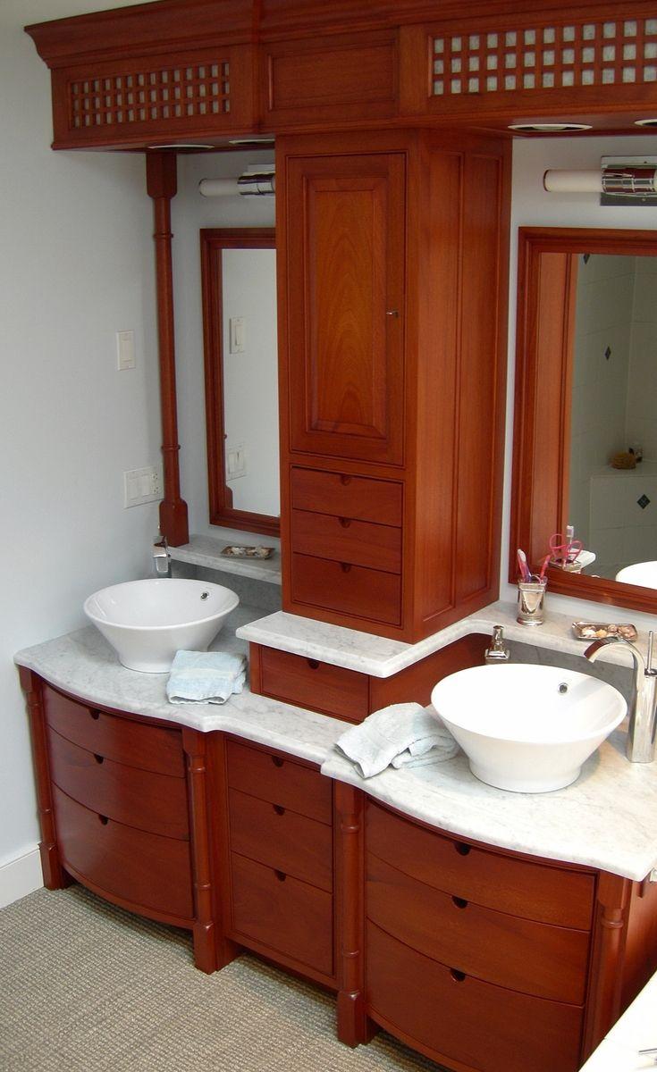 Caribbean bathroom ideas - Mahogany Caribbean Bathroom Vanity Designs