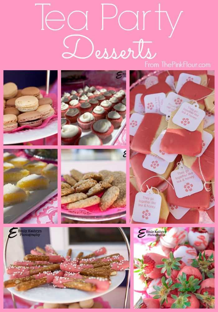 tea party bridal shower dessert ideas both homemade and semi homemade recipes from wwwthepinkflourcom