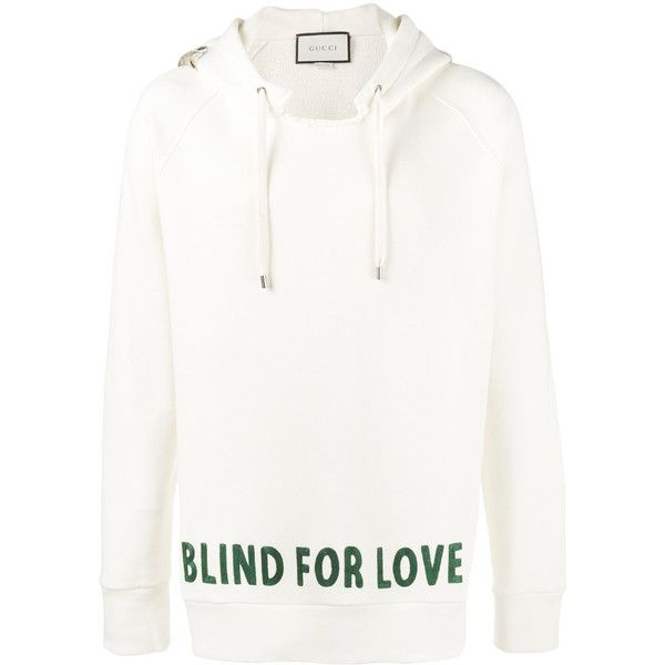e50af14e072 Gucci Blind for Love embroidered hoodie ( 2