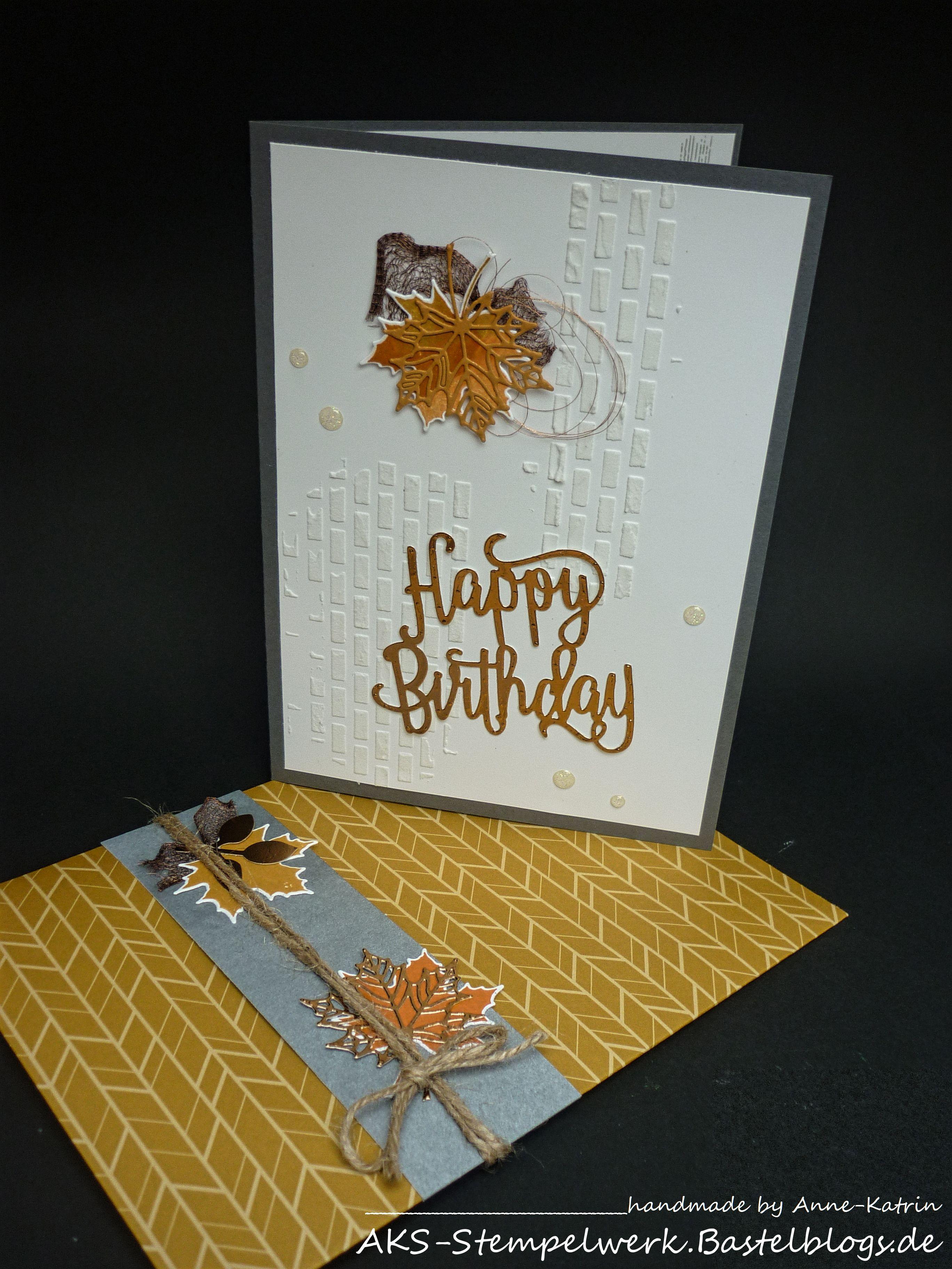 Stampin\' Up!, Geburtstagskarte DIN A5, Herbst, Happy Birthday ...