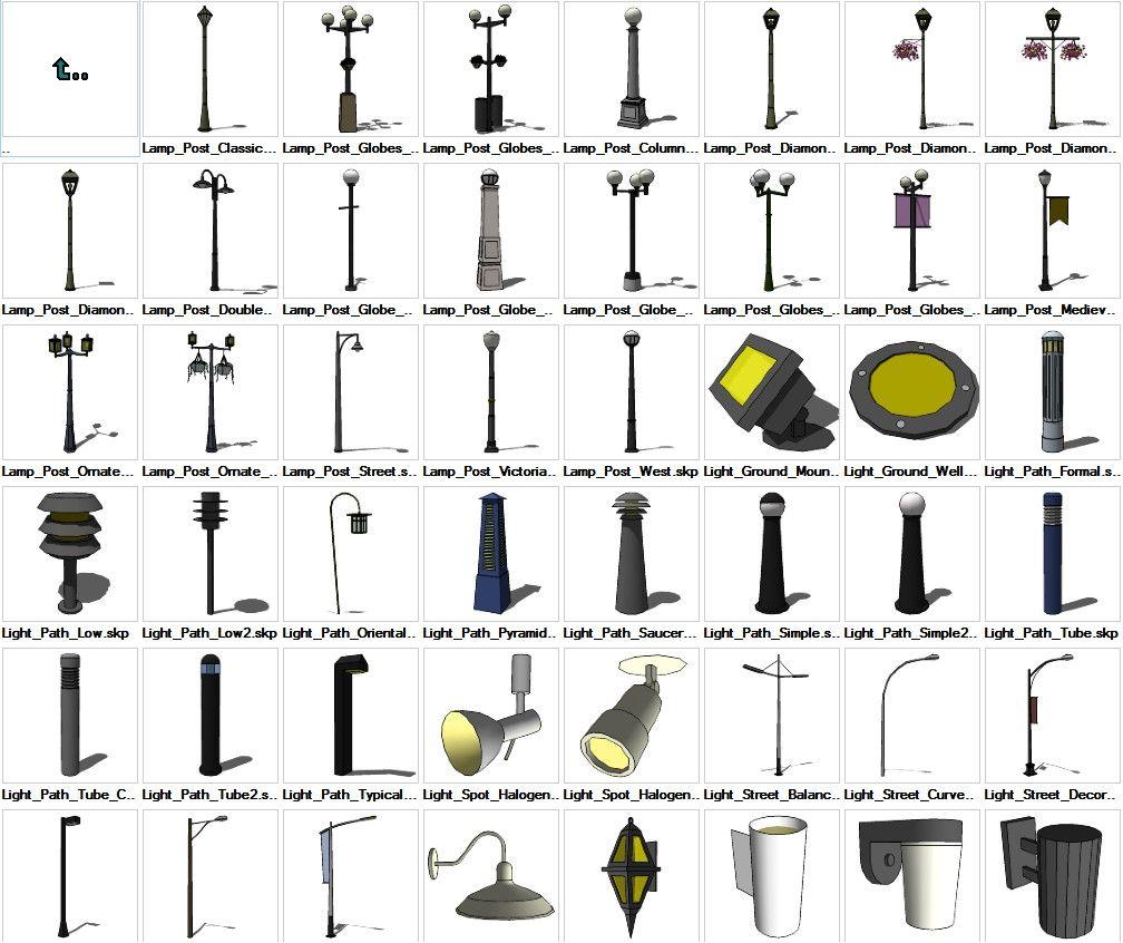 Sketchup Lighting Exterior 3D models download – CAD Design   Free ...