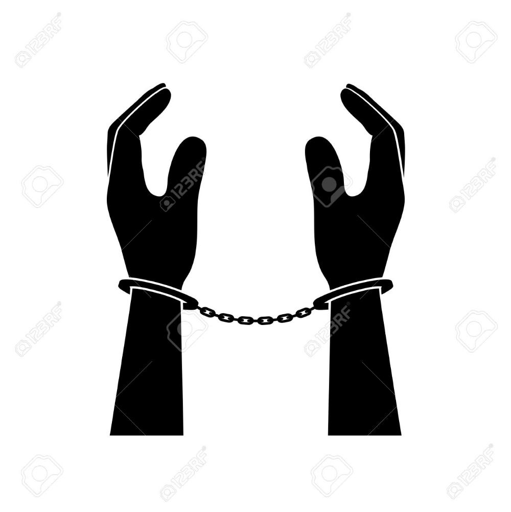 Human Hands In Handcuffs Human Hand Handcuffs Human