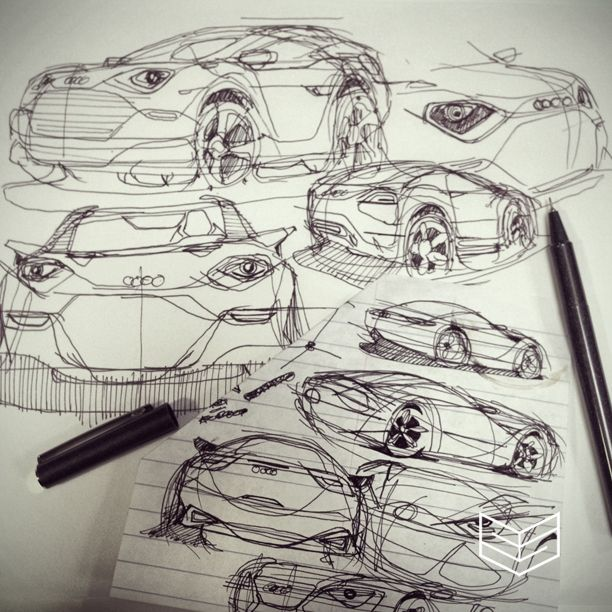 car sketches | Pencil and pen on paper | Pinterest | Car sketch ...
