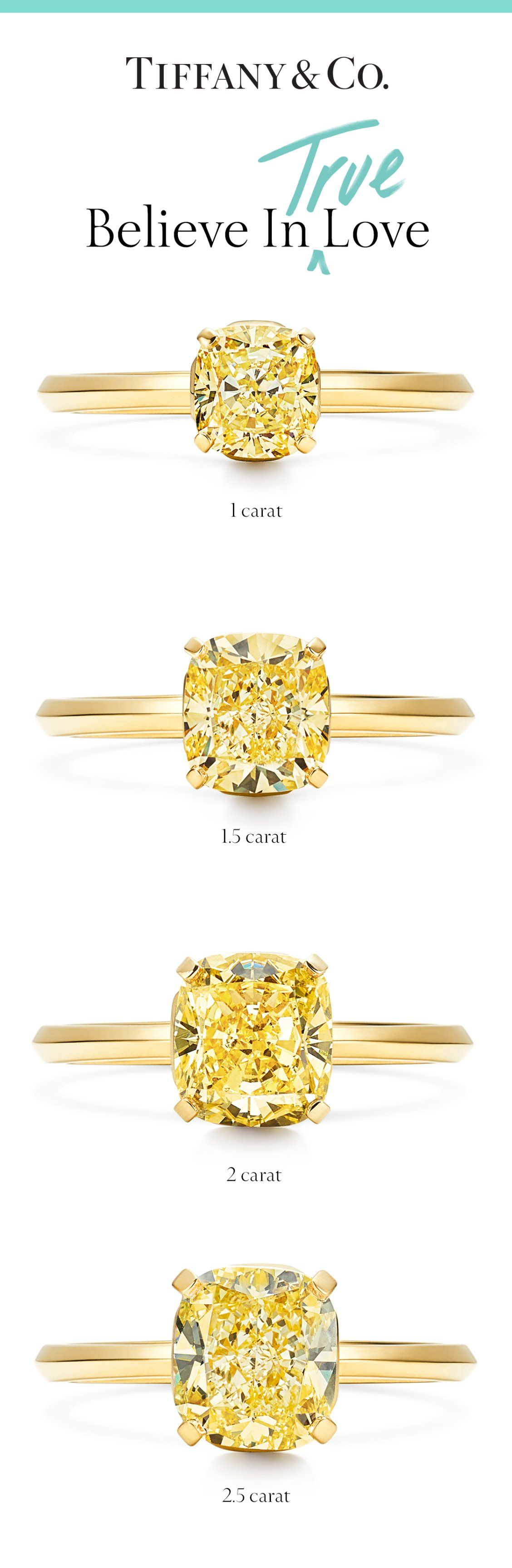 bd6e15cf9 Introducing Tiffany True—our first new engagement ring design in nearly a  decade, in 18k gold with a fancy yellow cushion modified brilliant diamond.