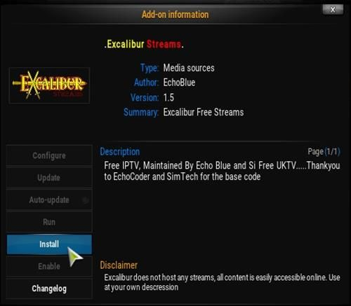 Steps To Install Excalibur Streams Add-on Kodi 16 1 Jarvis Pic 20