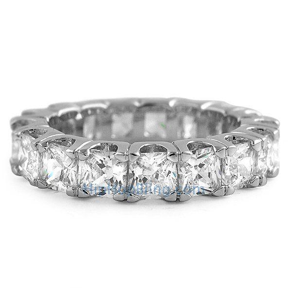 Princess Cut Eternity CZ Bling Bling Ring Bling Bling Rings #ring #hiphopbling #hiphopjewelry #icedoutjewelry #czring #cz #bling #blingbling #ice #blingjewelry #blingblingjewelry #swag #micropave #icedout #diamondring
