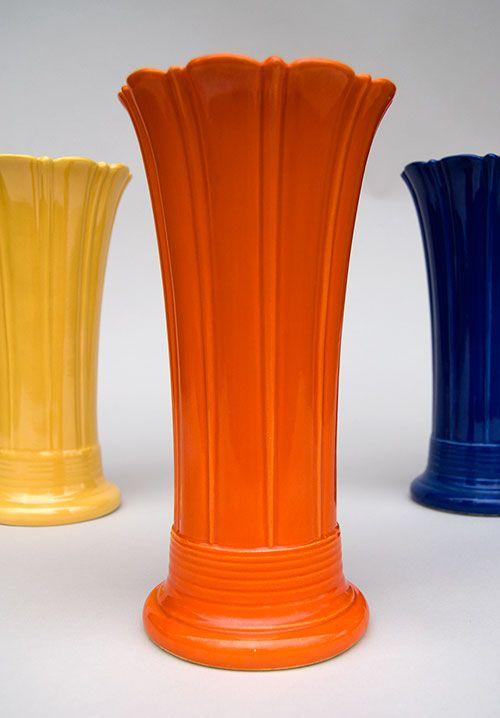 Vintage Fiestaware Vases 10 Radioactive Red Yellow Cobalt Rare
