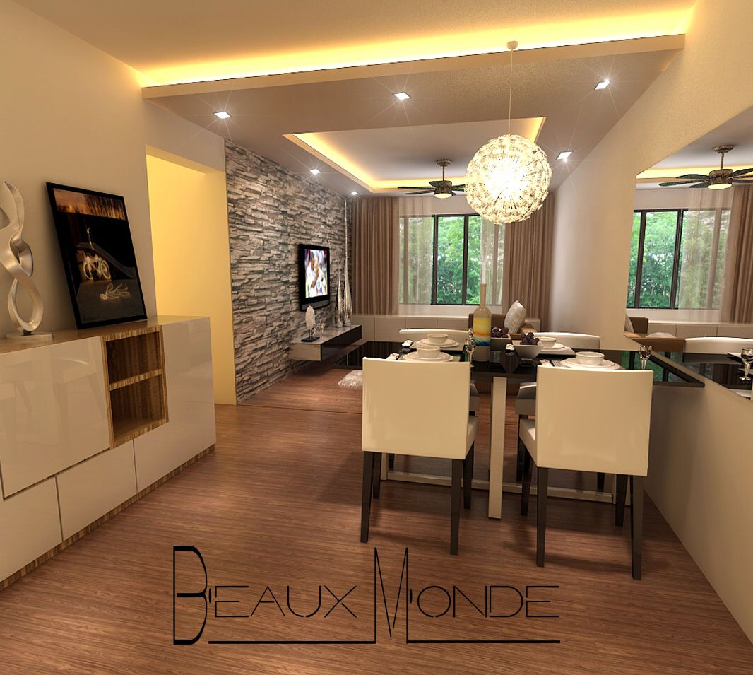 Living Room Design For My Filipino Client False Ceiling With Cove